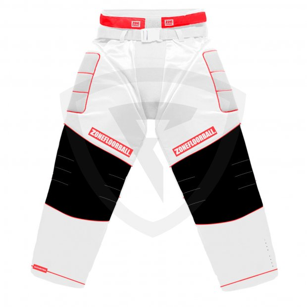 Zone Monster 2 Goalie Pants White-Red 42314 Goalie pants MONSTER2 WHITE-RED