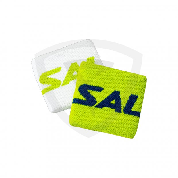 Salming Wristband Short 2-pack White-Green 1188879-0608-ONE_Short_2pack_Green_White