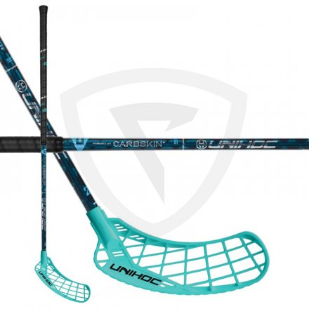Unihoc Epic Carbskin Feather Light 29 Turquoise ICE JR