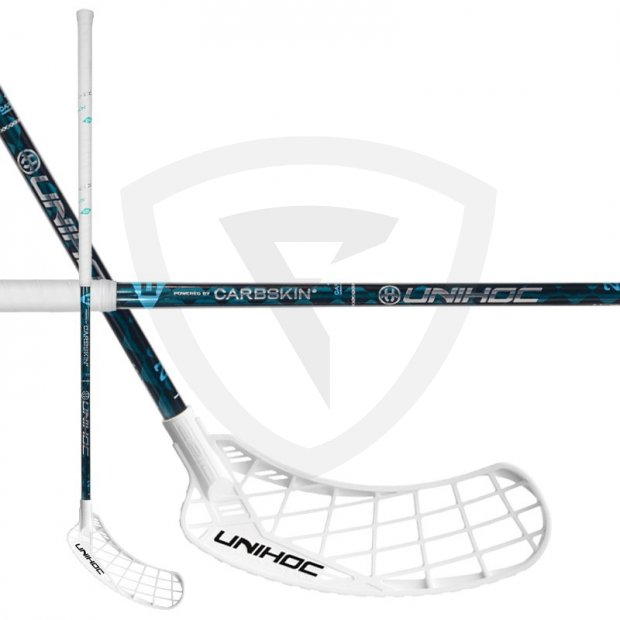 Unihoc Epic Carbskin 26 Turquoise ICE 23761_unihoc_epic_carbskin_white_26