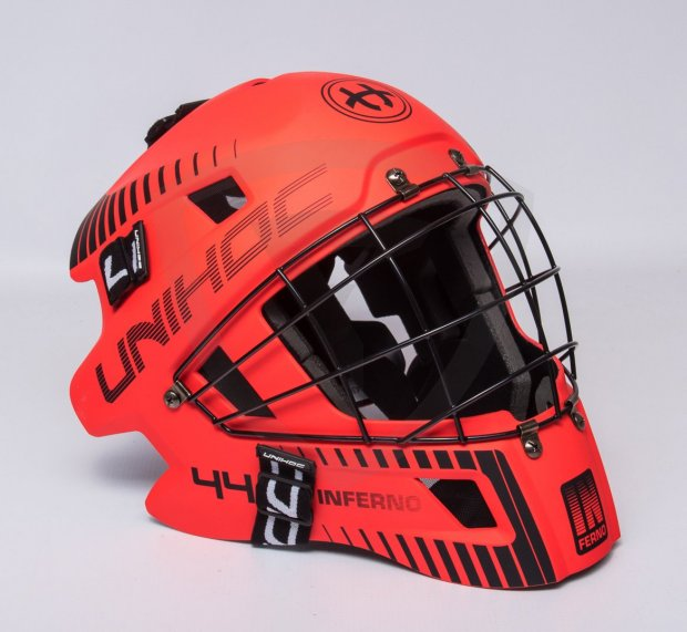 Unihoc Inferno 44 Goalie Mask Red-Black Unihoc Inferno 44 Goalie Mask Red-Black