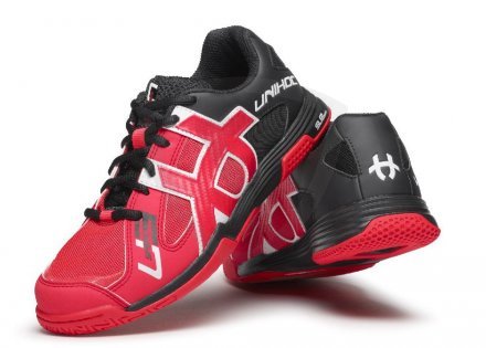 Unihoc U3 Speed Lady Red Black florbalová obuv